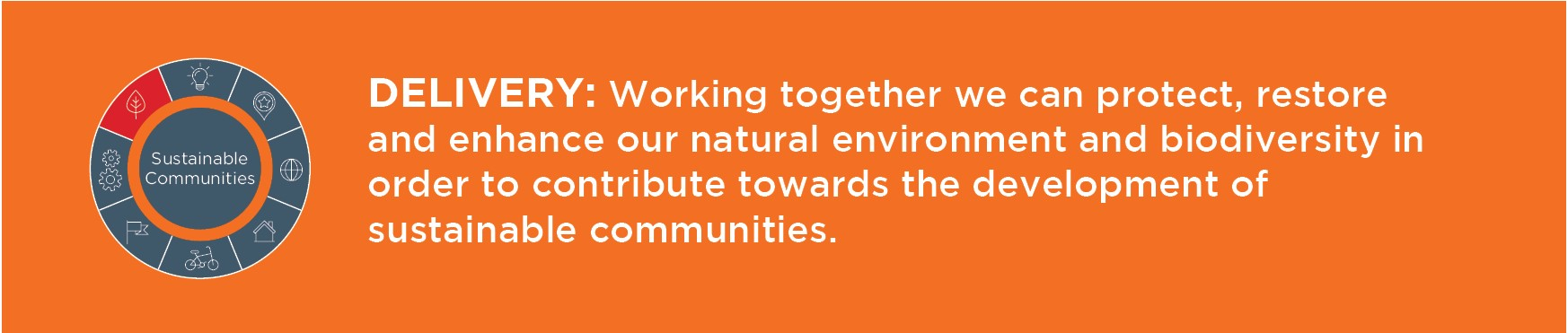 Working together we can protect, secure and enhance our natural environment and biodiversity in order to contribute towards the development of sustainable communities.